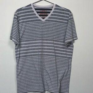 American Rag EUC Men's T-Shirt Large White & Grey